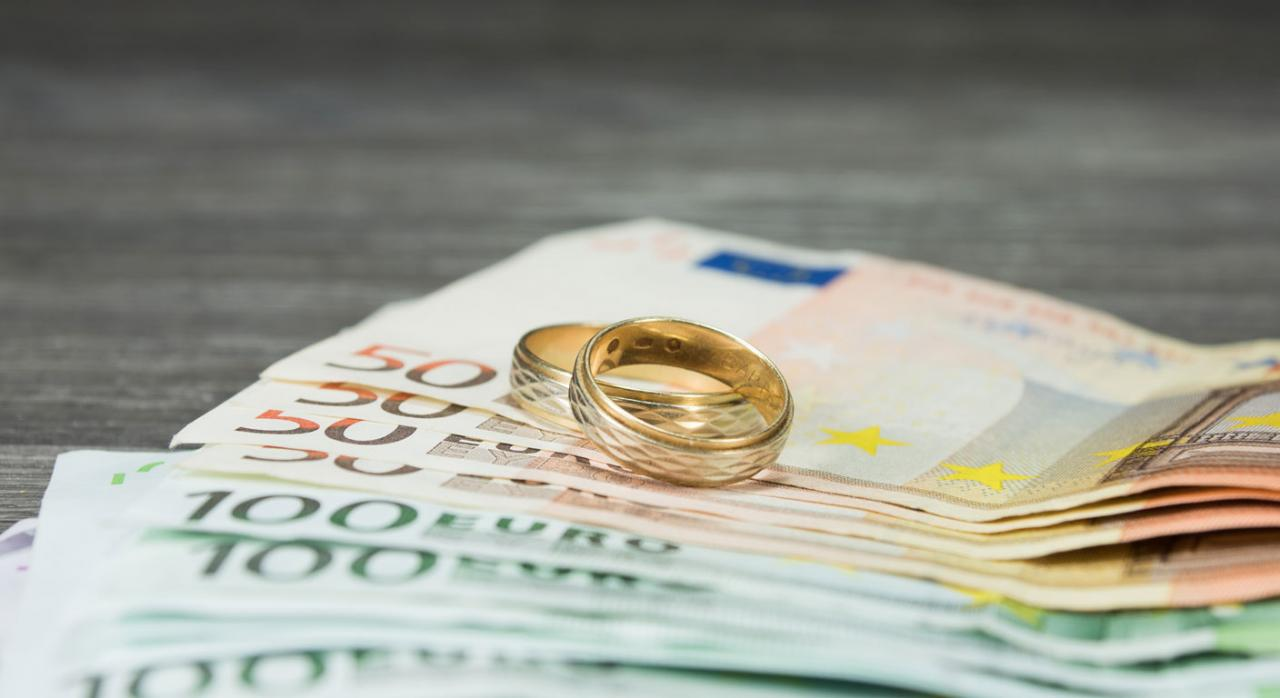 dinero. Pension compensatoria por divorcio