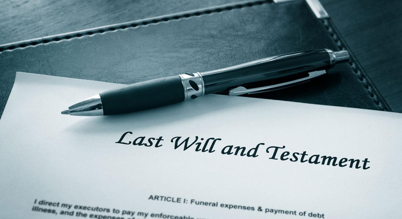 Imagen de la firma de un testamento
